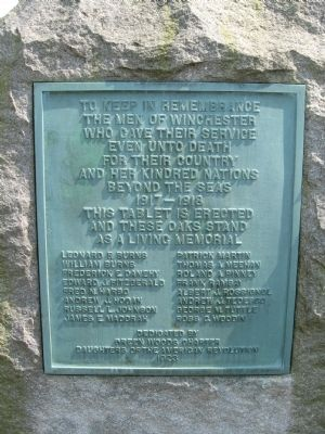 Winchester World War I Memorial image. Click for full size.