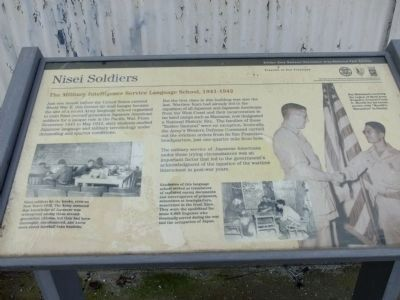 Military Intelligence Service Language School Marker wayside exhibit image. Click for full size.