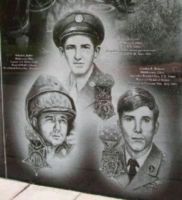 Middletown Veterans Memorial Medal of Honor image. Click for full size.