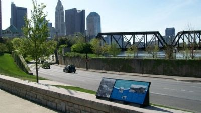 The Urban Face of the Scioto River Marker image. Click for full size.