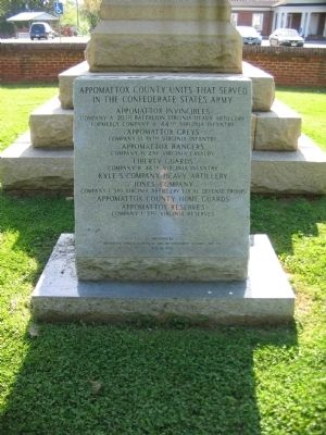 Appomattox County Units Memorial image. Click for full size.