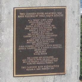 Cannery Divers Memorial - Donor Plaque image. Click for full size.