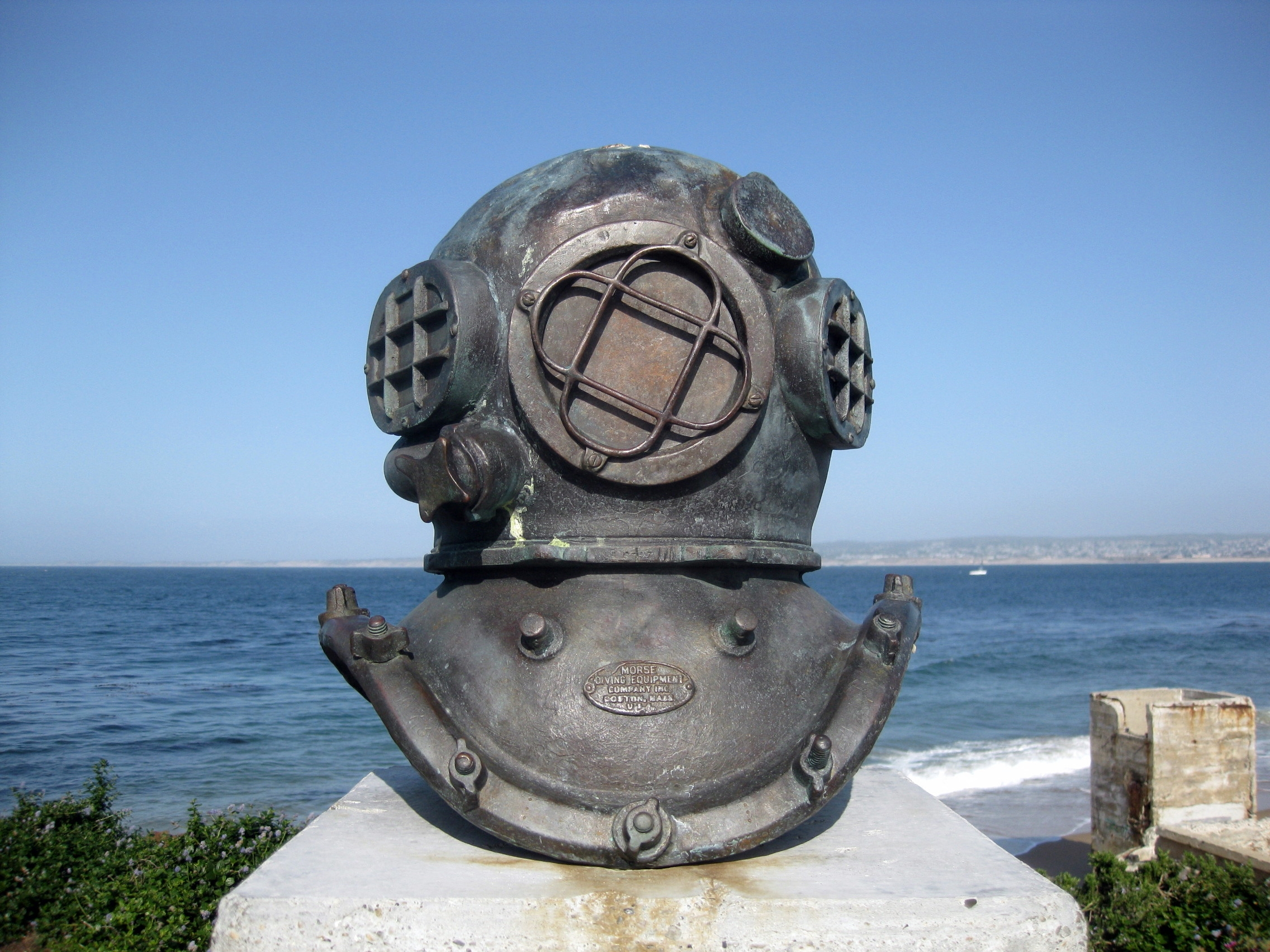 Bronze Casting of Diving Helmet, by Jesse Corsant