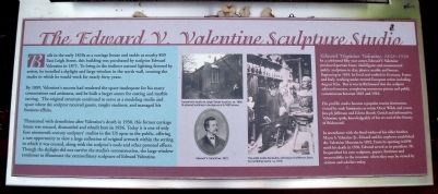 The Edward V. Valentine Sculpture Studio Marker image. Click for full size.