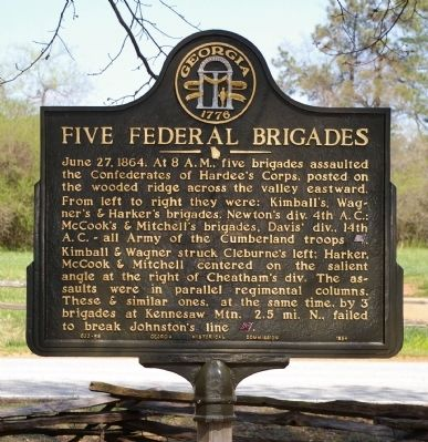 Five Federal Brigades Marker image. Click for full size.