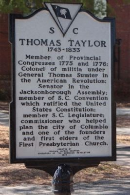 Thomas Taylor Marker image. Click for full size.