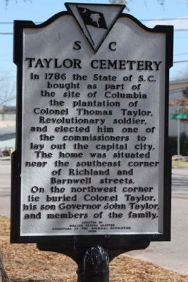 Taylor Cemetery Marker image. Click for full size.
