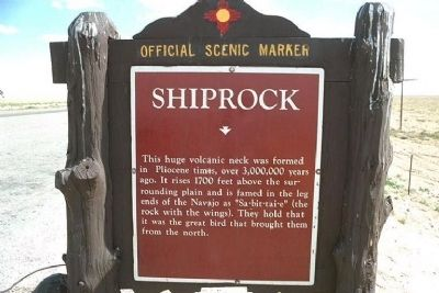 Shiprock Marker image. Click for full size.