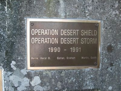 Gulf War Plaque image. Click for full size.