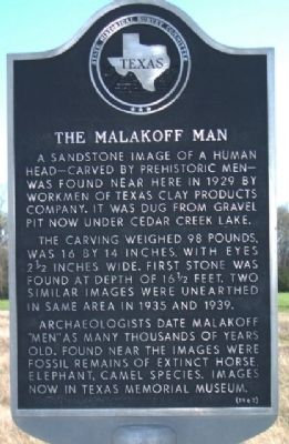 The Malakoff Man Marker image. Click for full size.