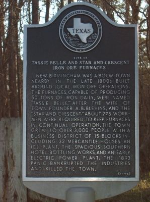 Tassie Belle and Star and Cresent Iron Ore Furnaces Marker image. Click for full size.