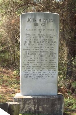John M. Bates Bridge Marker image. Click for full size.