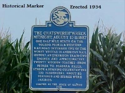 The Chatsworth Wreck Marker image. Click for full size.