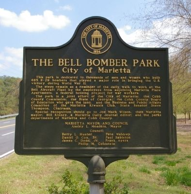 The Bell Bomber Park Marker image. Click for full size.