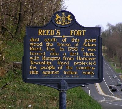 Reed's Fort Marker image. Click for full size.