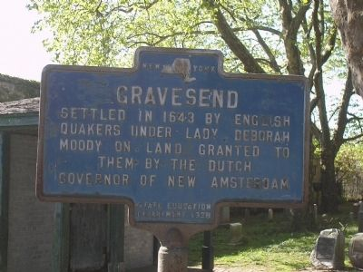 Gravesend Marker image. Click for full size.