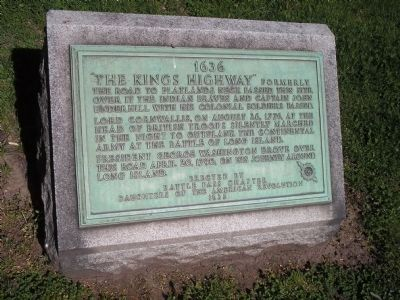 The Kings Highway Marker image. Click for full size.