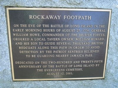 Rockaway Footpath Marker image. Click for full size.