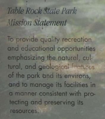 Table Rock State Park Marker image. Click for full size.