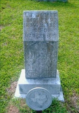 Lyne Taliaferro Barret Grave Marker image. Click for full size.