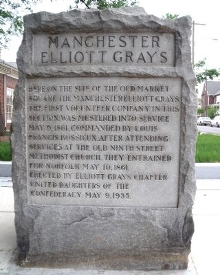 Manchester Elliott Grays Marker (front) image. Click for full size.