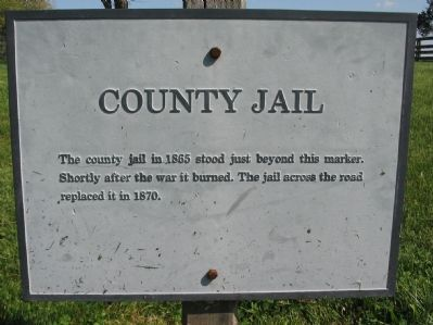County Jail Marker image. Click for full size.