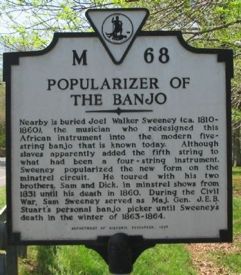 Popularizer of the Banjo Marker image. Click for full size.