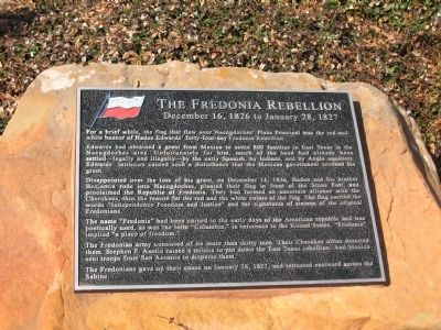 The Fredonia Rebellion Marker image. Click for full size.