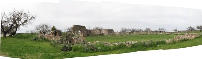 Panorama, San Saba Presidio image. Click for full size.