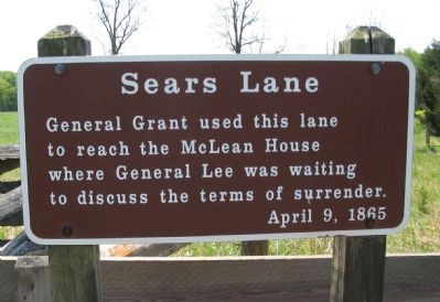 Sears Lane Marker image. Click for full size.