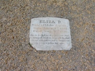 Eliza D. Raine Tombstone image. Click for full size.