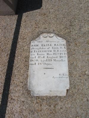 Ann Eliza Raine Tombstone image. Click for full size.