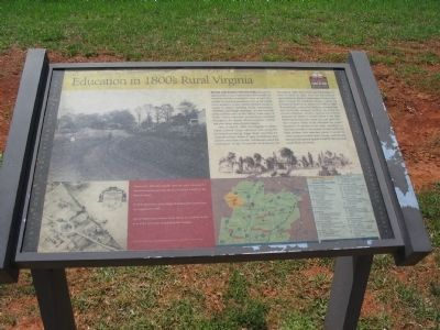 Education in 1800's Rural Virginia Marker image. Click for full size.