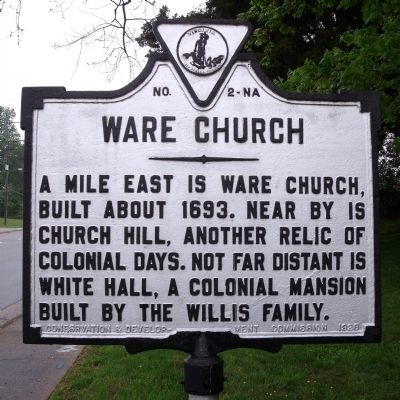 Ware Church Marker image. Click for full size.