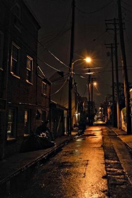 Fells Point Alley (Many a drunken sailor made his way down this path) image. Click for full size.