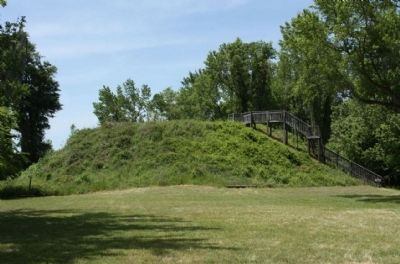 Santee Indian Mound as seen today image. Click for full size.