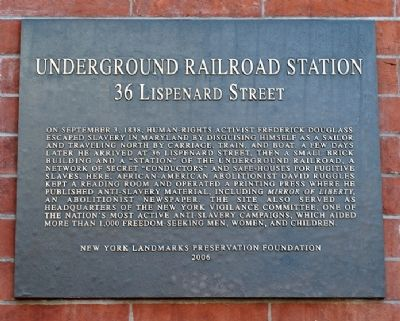 Underground Railroad Station Marker image. Click for full size.