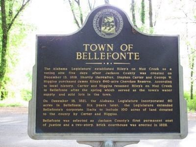 Bellefonte Cemetery / Town of Bellefonte Marker image. Click for full size.