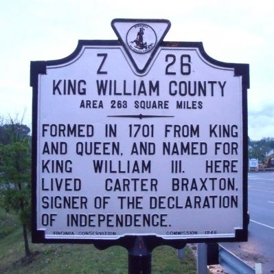 King William County (obverse) image. Click for full size.