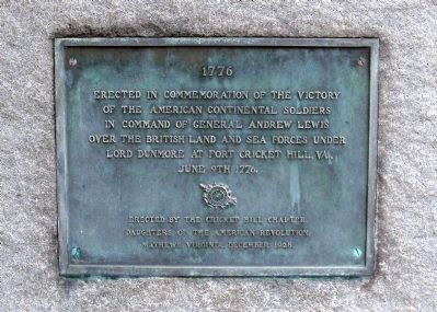 Fort Cricket Hill Plaque image. Click for full size.