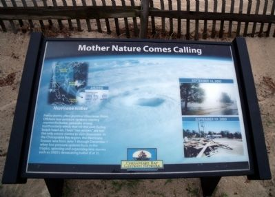 Mother Nature Comes Calling Marker image. Click for full size.