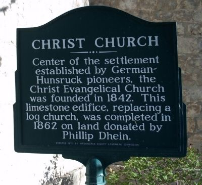 Christ Church Marker (Two sided) image. Click for full size.
