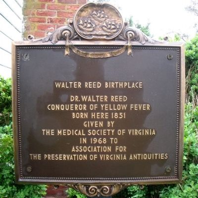 Walter Reed Birthplace Marker image. Click for full size.