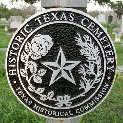 Historic Texas Cemetery Marker image. Click for full size.