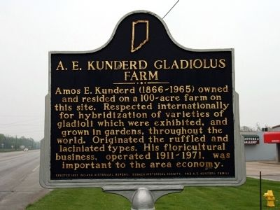 A. E. Kunderd Gladiolus Farm Marker image. Click for full size.