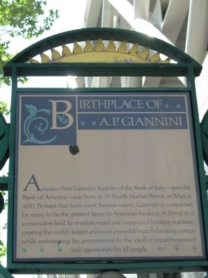 Birthplace of A.P. Giannini Marker image. Click for full size.