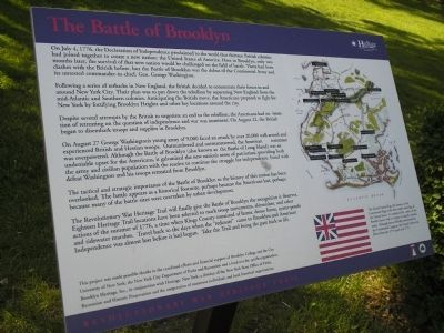 The Battle of Brooklyn Marker image. Click for full size.