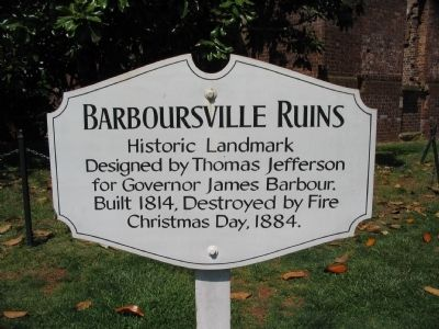 Barboursville Ruins Marker image. Click for full size.