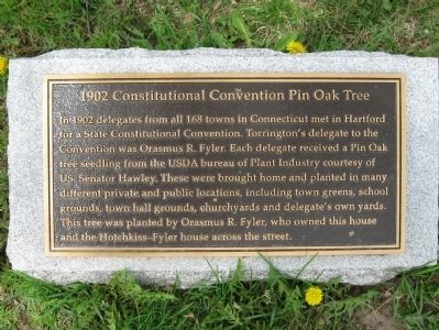 1902 Constitutional Convention Pin Oak Tree Marker image. Click for full size.