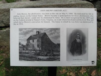 John Brown Birthplace Marker image. Click for full size.